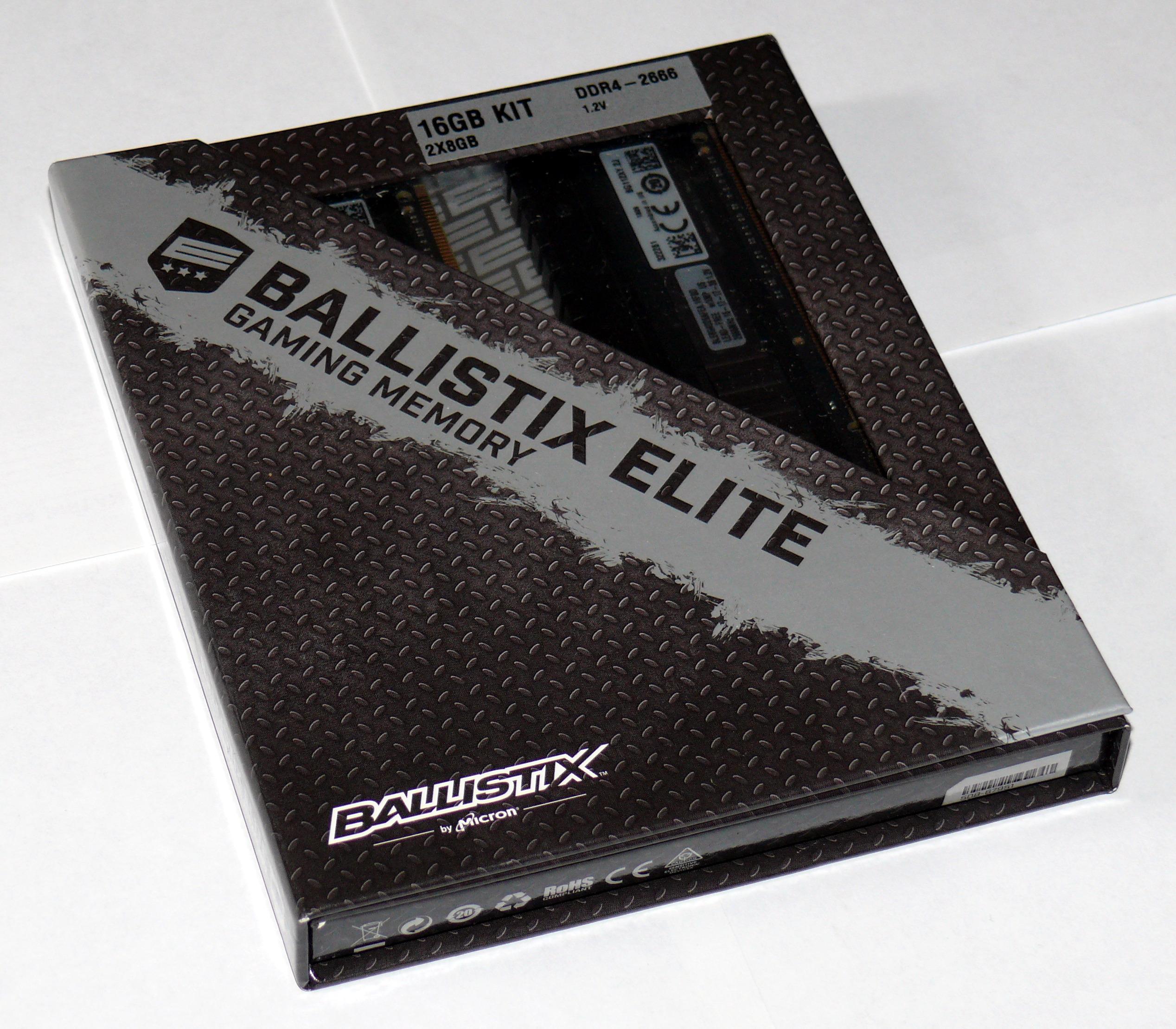 Оперативная память Crucial Ballistix Elite (комплект 2x8GB DDR4-2666